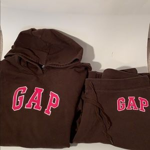 GAP hoodie and sweatpants